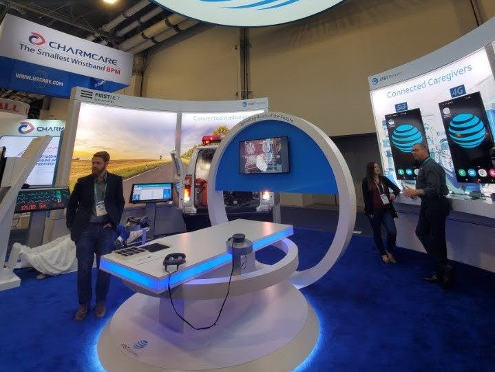AT&T display at the 2019 Consumer Electronics Show