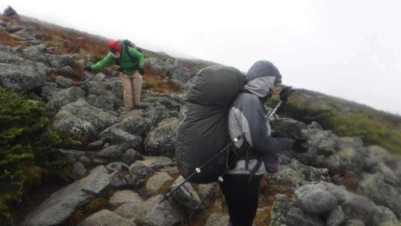 Stick and Dove descend the mountain