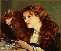 'Portrait of Jo (La belle Irlandaise)' by Gustave Courbet, 1865–66, Metropolitan Museum of Art, a painting of Joanna Hiffernan