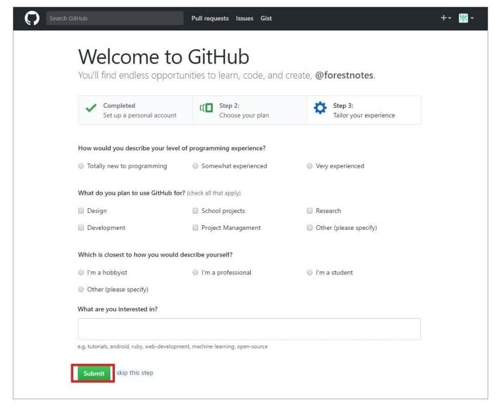 GitHub登録3