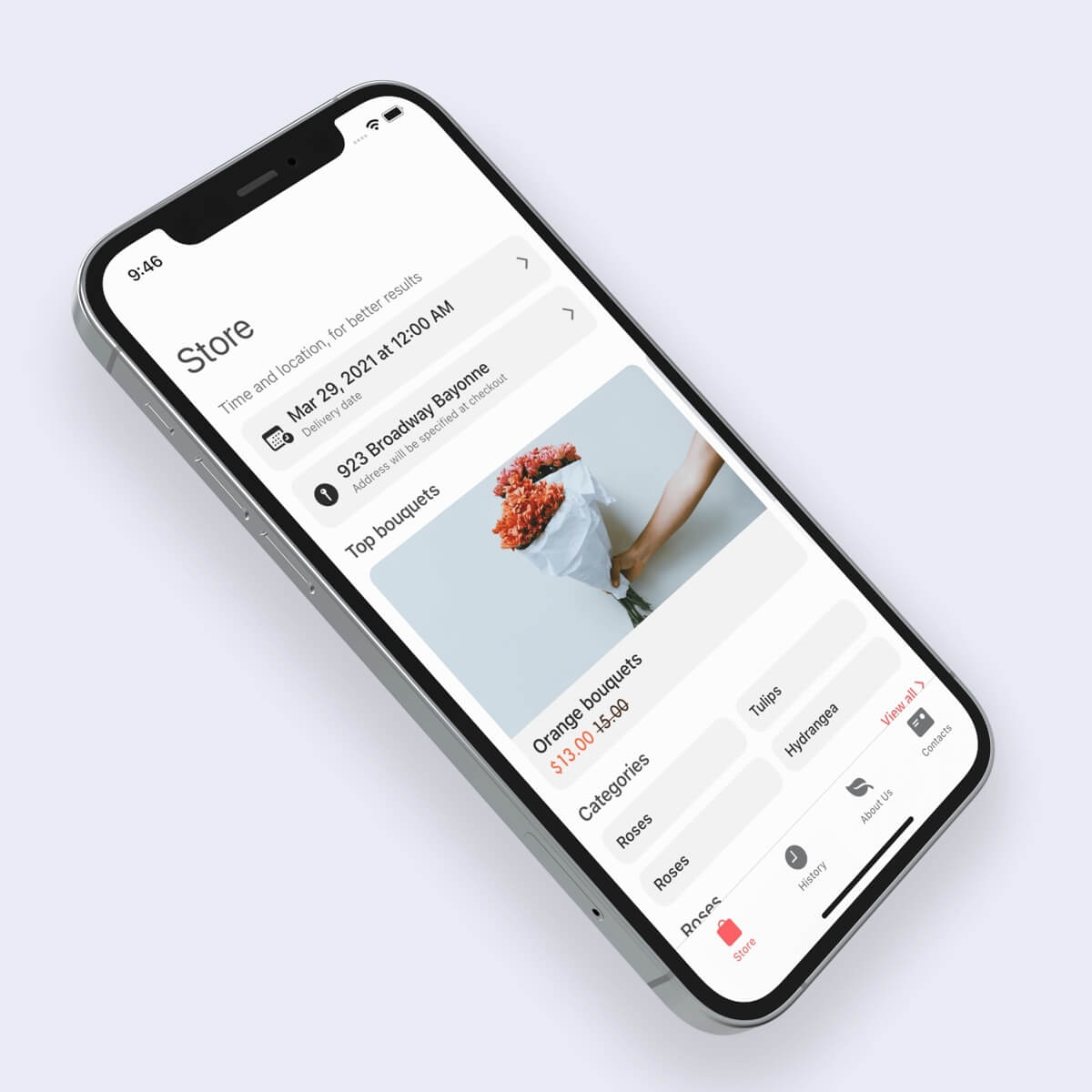 flowers store for ios