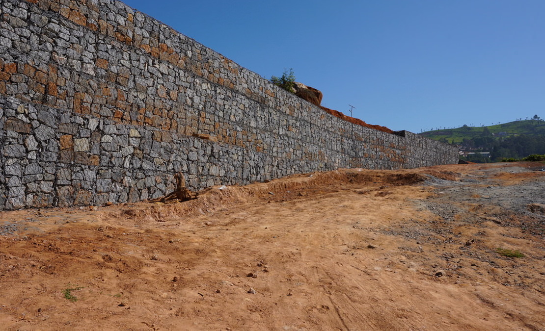 Revetments built at Hill Valley Enclave with gabion technology