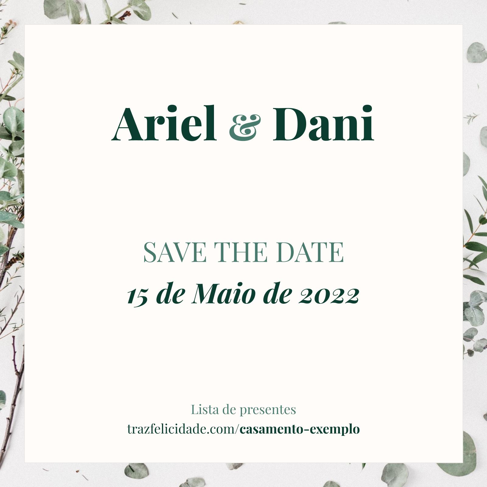 Save the Date modelo 2