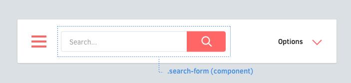 Search Form dentro de uma navbar