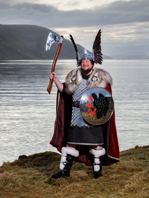 Liam Summers, Guizer Jarl. Photo by John Coutts.
