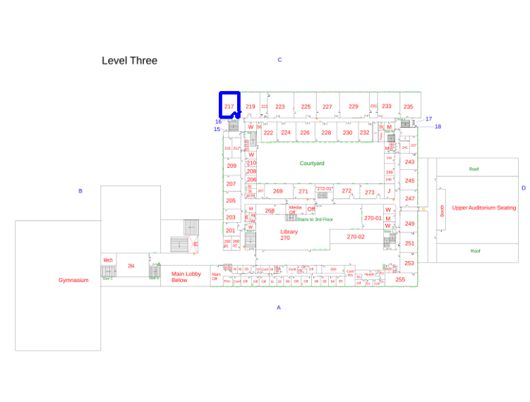 The contour detected from the previous image, overlayed over the original floor plan.