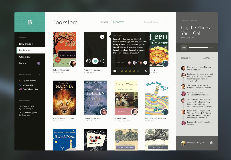 Bookshelf Concept UI