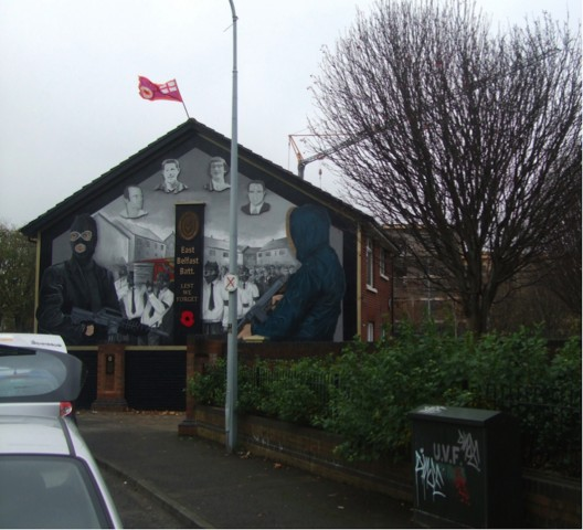Figure 1. Loyalist memorial painting in Belfast, Northern Ireland. Photograph by John Johnston (February 2014)