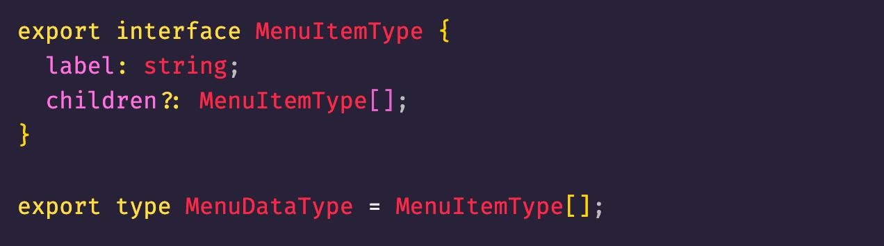 Recursive Data Type