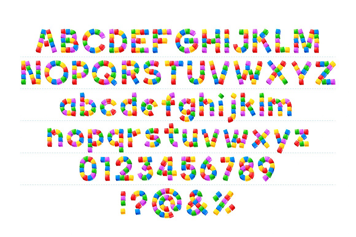 Alphabet of Kid's Blocks typefaces Cubes-kids_2.jpg