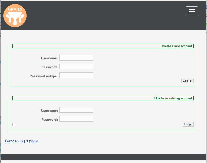 Grails user registration