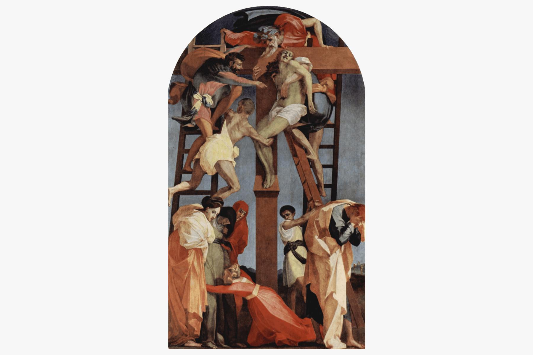 Джованни Баттиста Россо Фьорентино «Снятие скреста», 1529. Источник: gallerix.ru