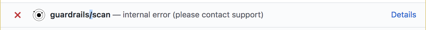 internal error (please contact support)