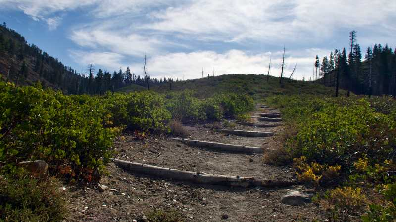 Climbing steps on the PCT