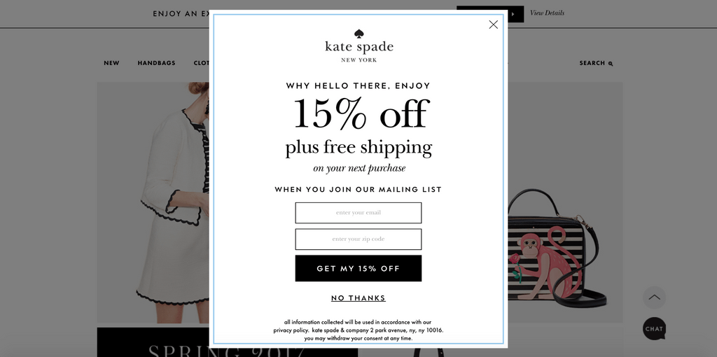 Kate spade 15% discount