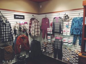 Base layer clothing in a store
