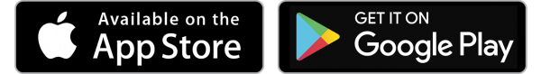 App store and Play store logos
