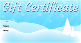 Gift Certificate Template Christmas 05