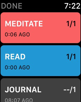 LEFT: Complication bottom middle. RIGHT: App view.