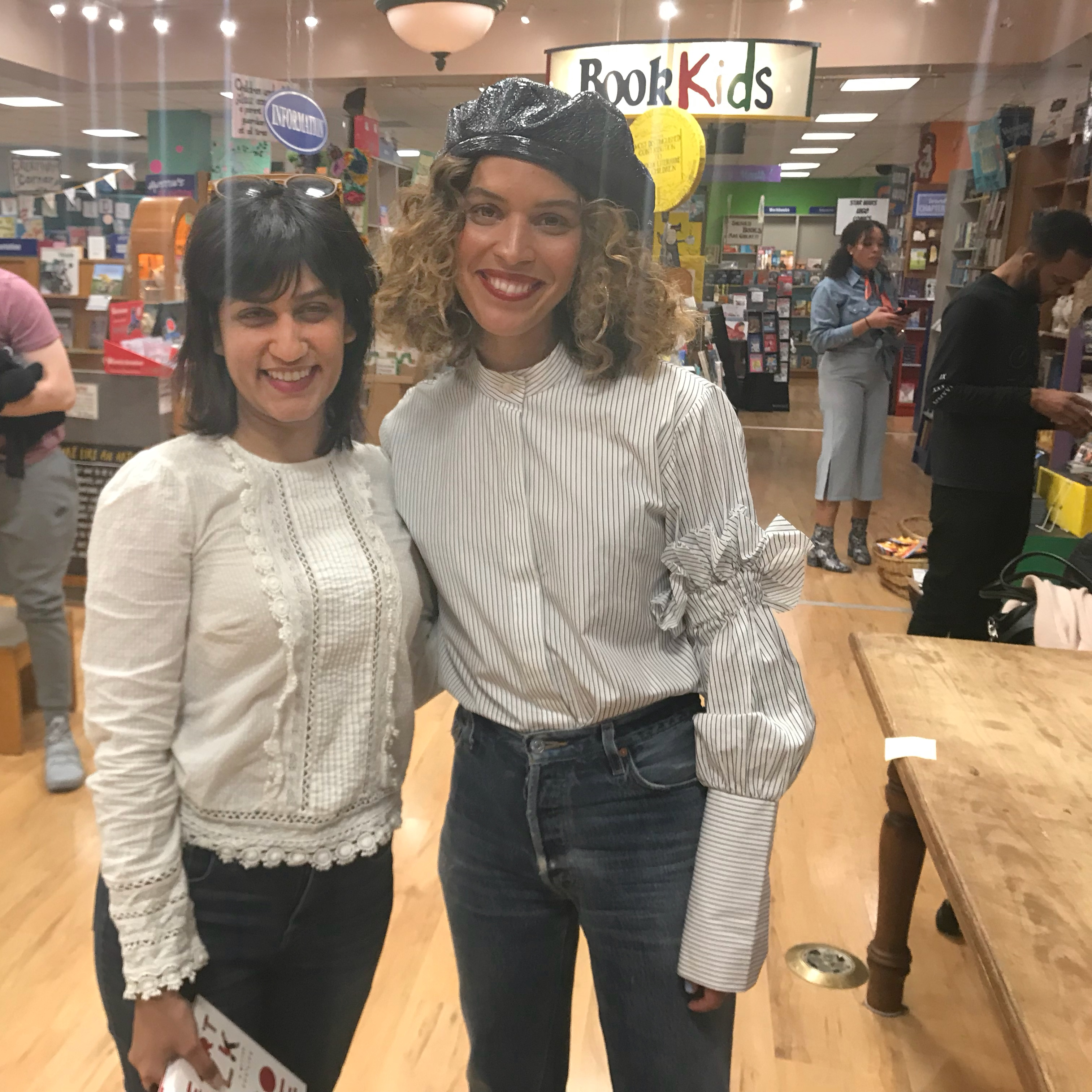Cleo Wade and I at the book signing
