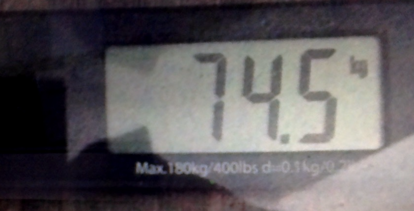 Actual weight