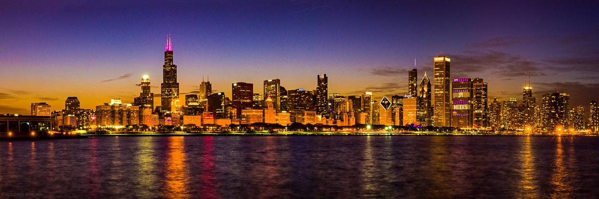 Chicago Skyline Blue Hour