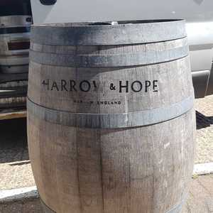We'd like to say a massive thank you to @harrowhope for the Champagne Barrels. They are a great addition to our outdoor drinking area. #Harrow&Hope #Marlow #Winery