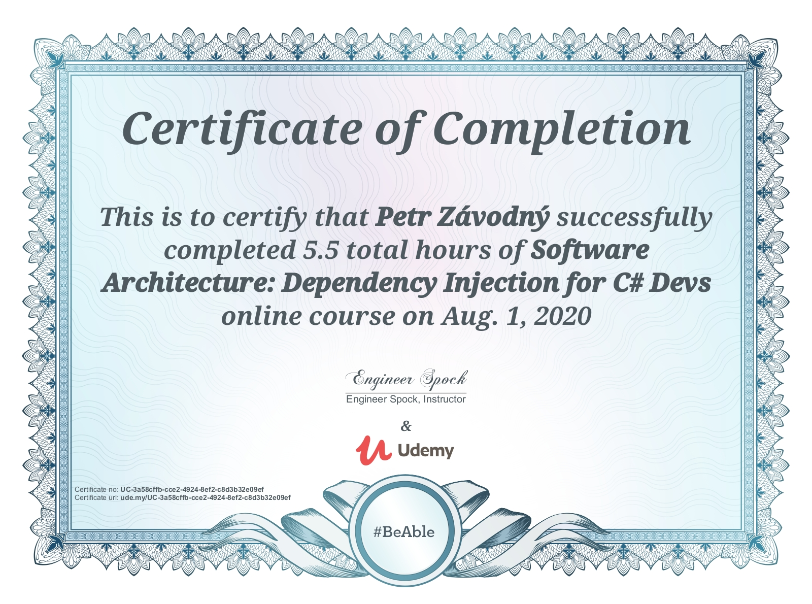 certificate Software Architecture: Dependency Injection for C# Devs