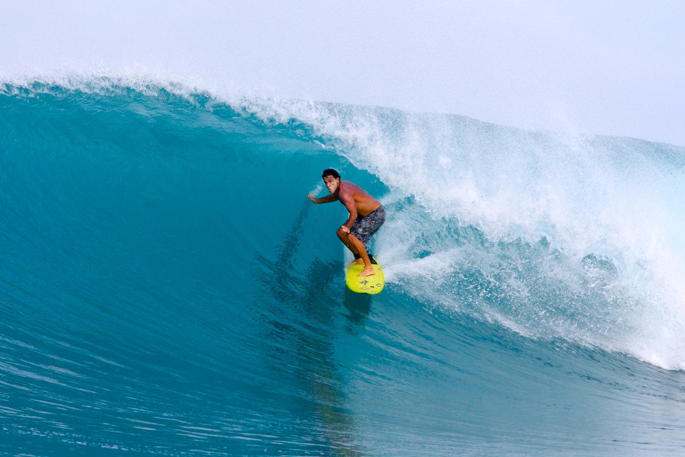 Melaleuca Surf Charter Boat Mentawai Islands surfer