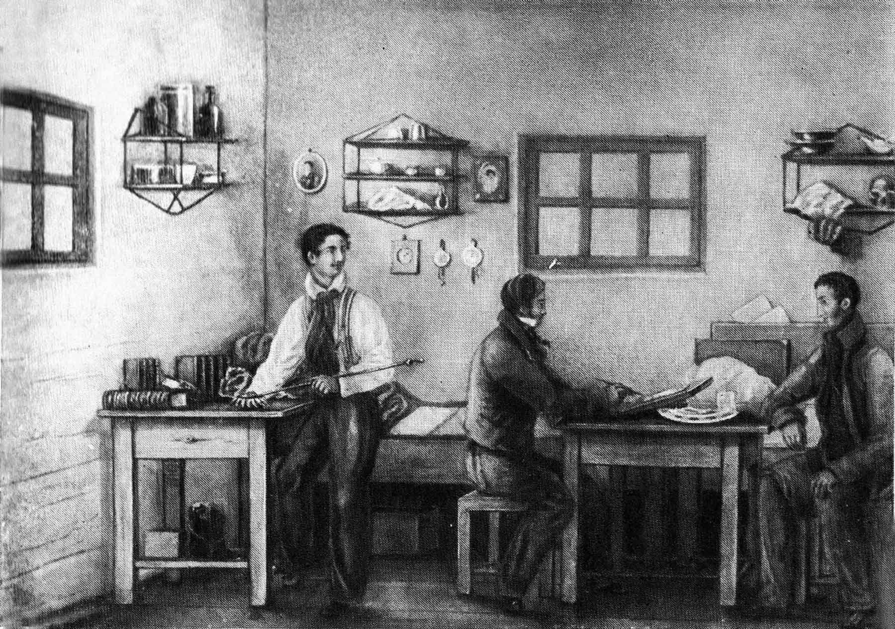 Бестужев в ссылке в Якутии. Источник: Мемориальный дом-музей А.А. Бестужева-Марлинского