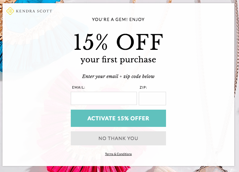 Kendra scott 15% off