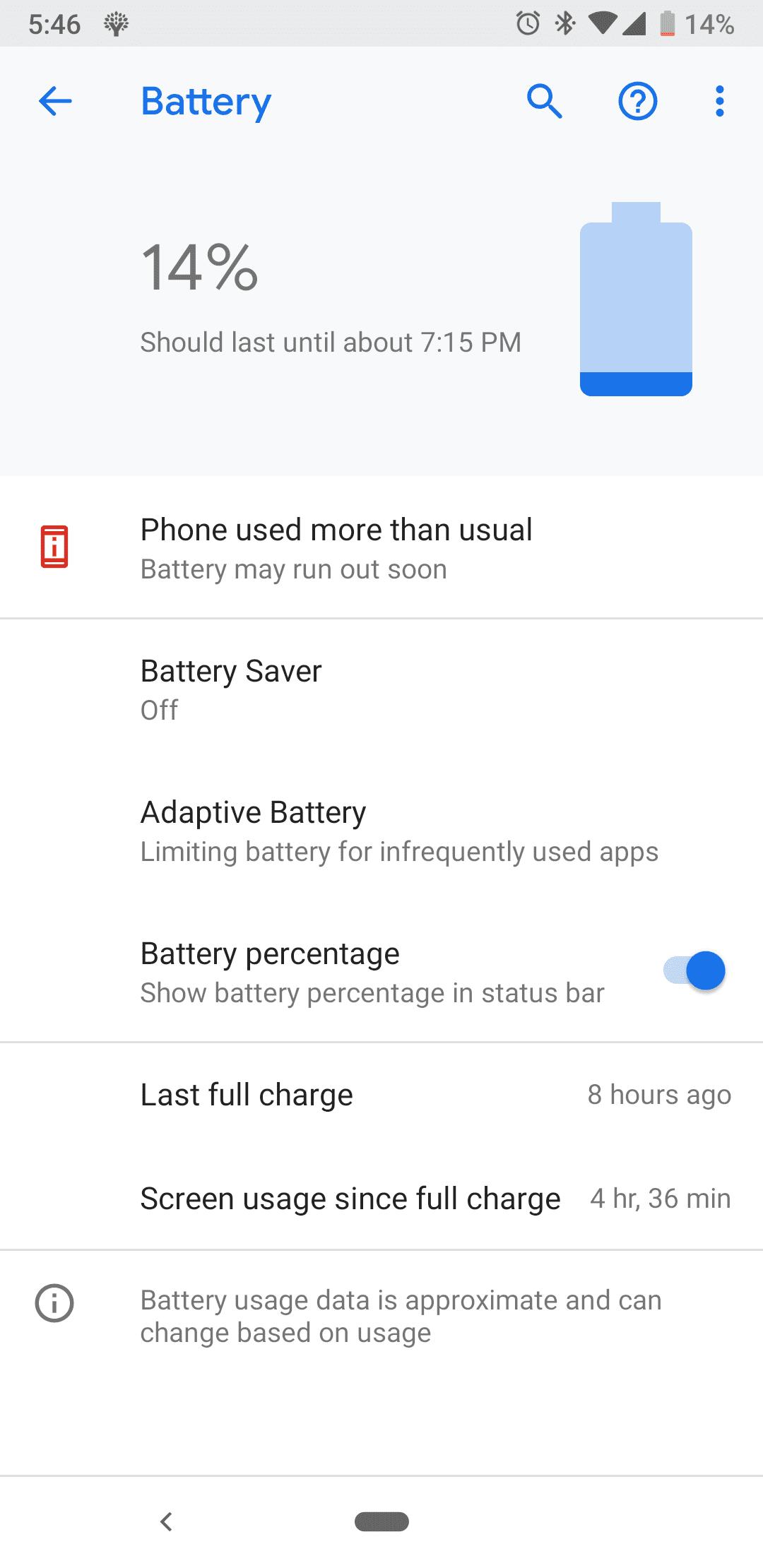 Pixel 3A battery life