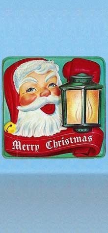 Santa With Lantern photo