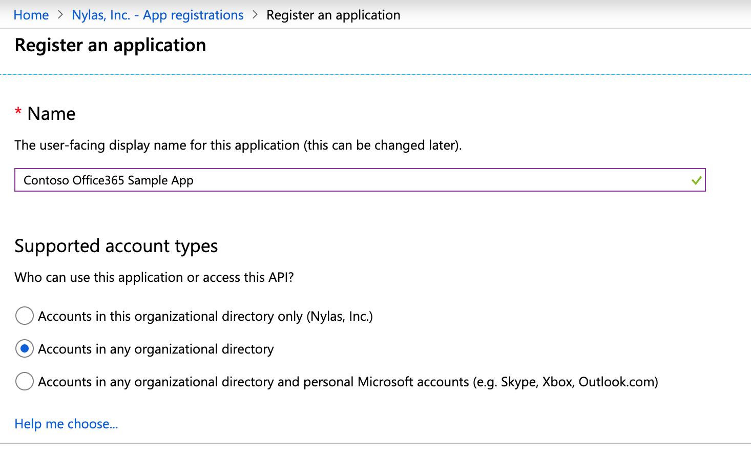 Azure Register App