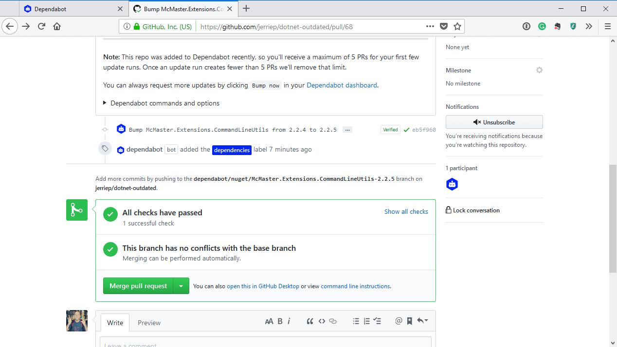 GitHub PR checks have passed