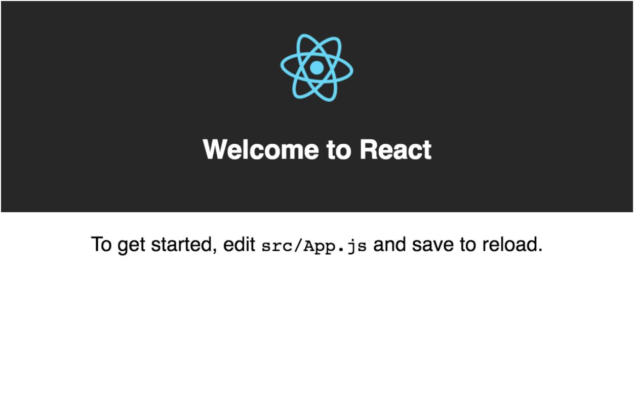 Create React App default homepage