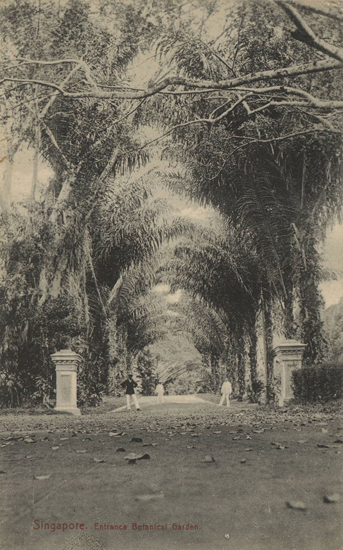 Entrance of Botanical Gardens, 1900s