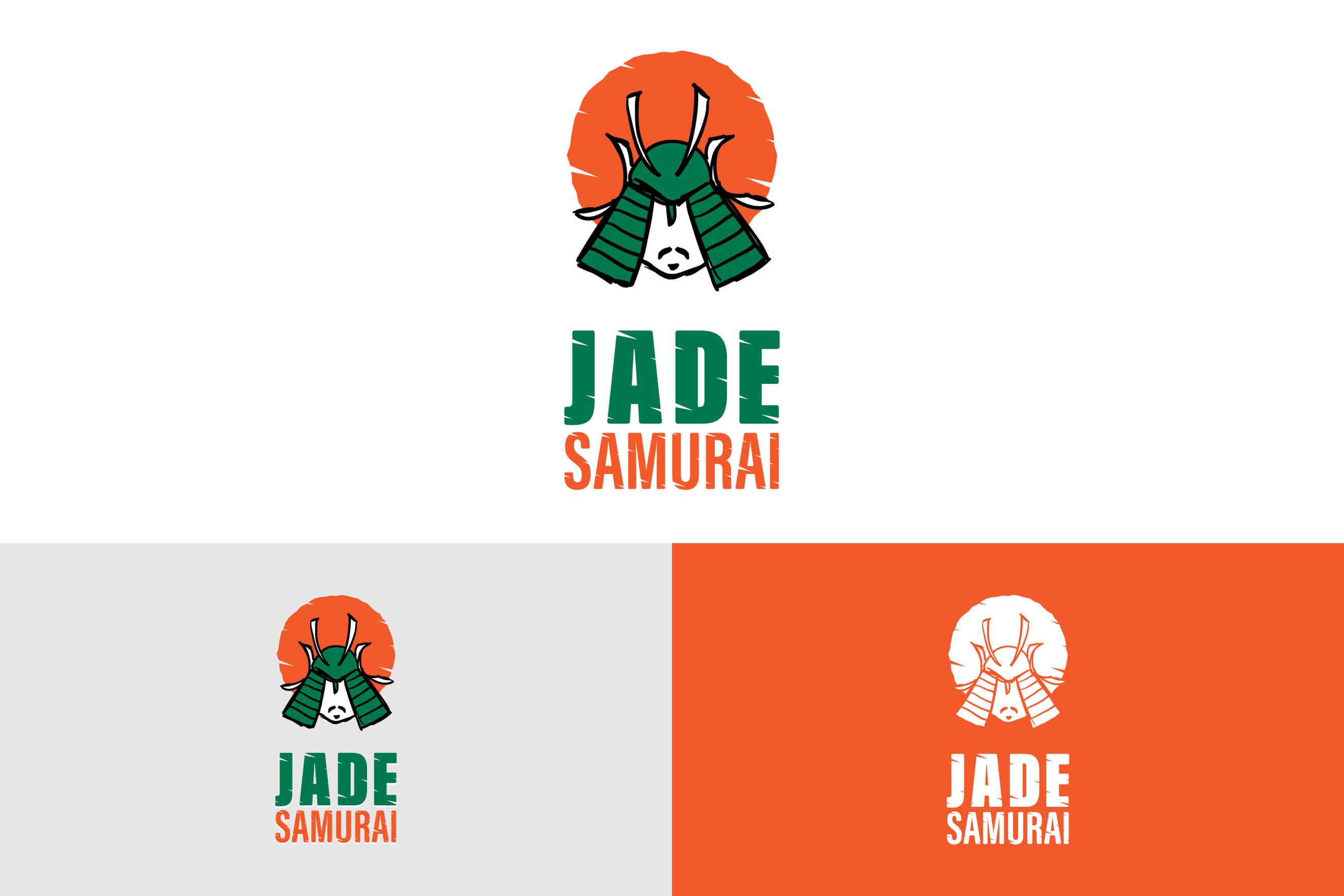 logo design for Jade Samurai Energy Drink