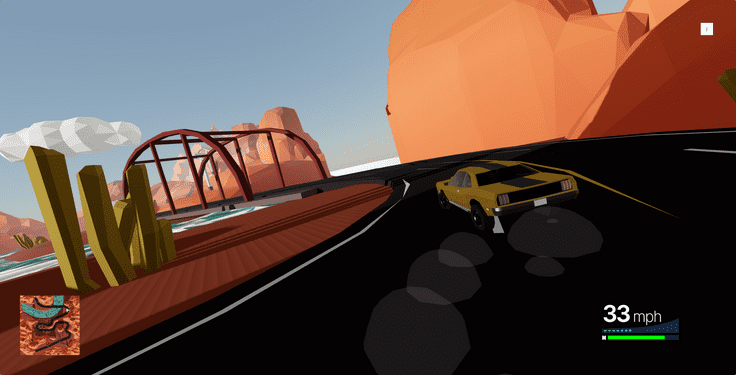 A car drifting in a racing game