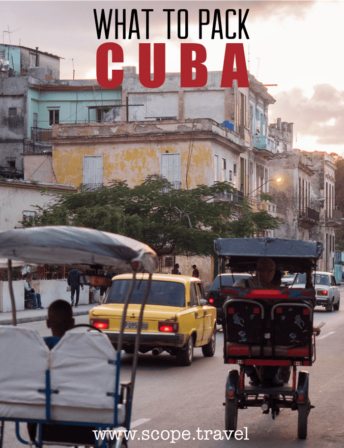 Pinterest cuba packing list