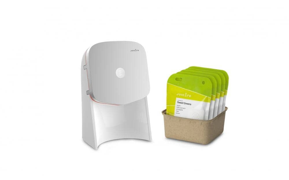 juicero equipment and patented juice pulp packs