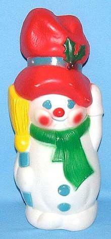 Snowman With Broom photo