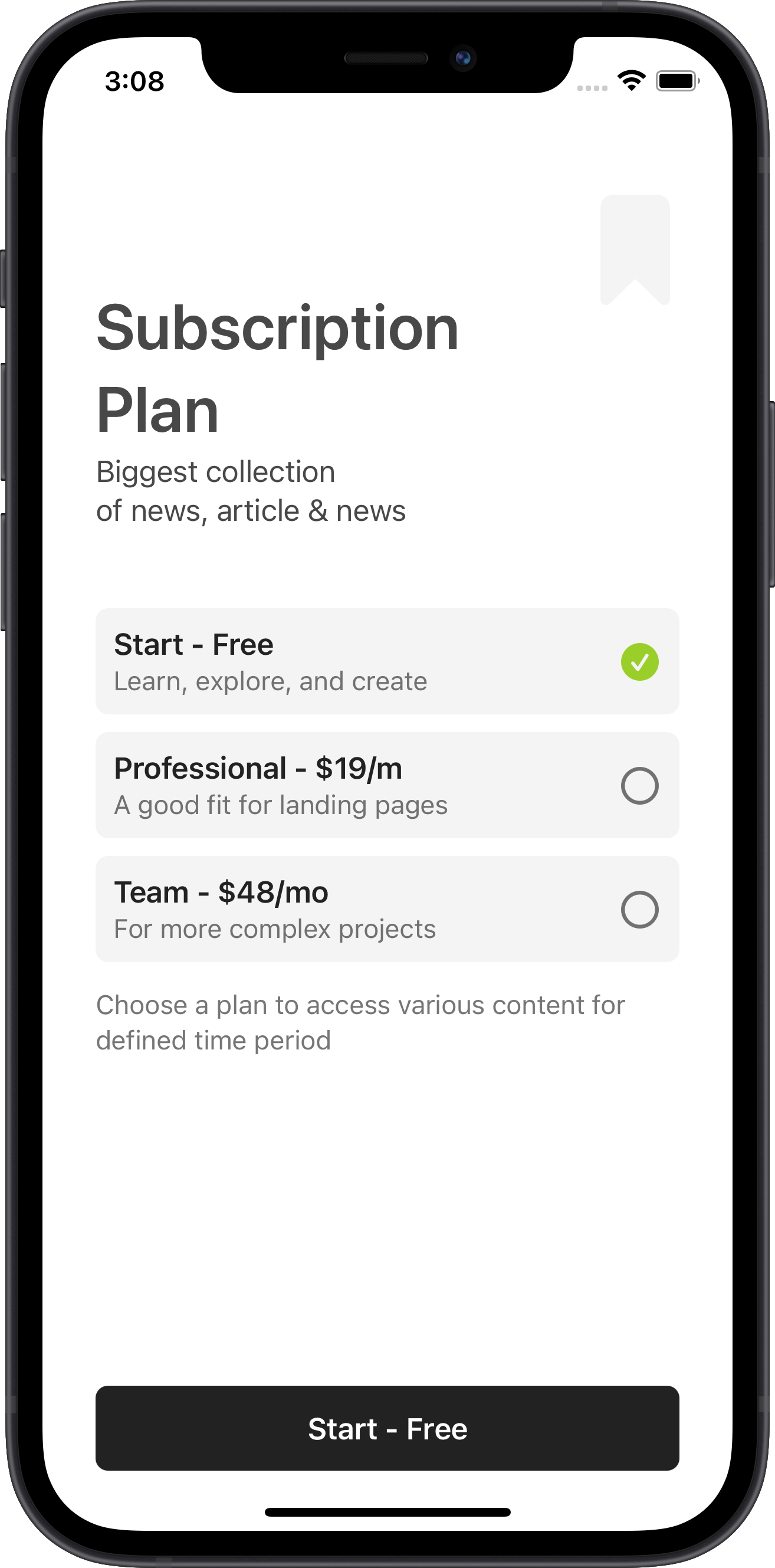 e-commerce, subscription plan