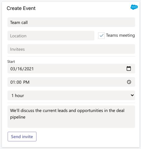 Meeting invite form