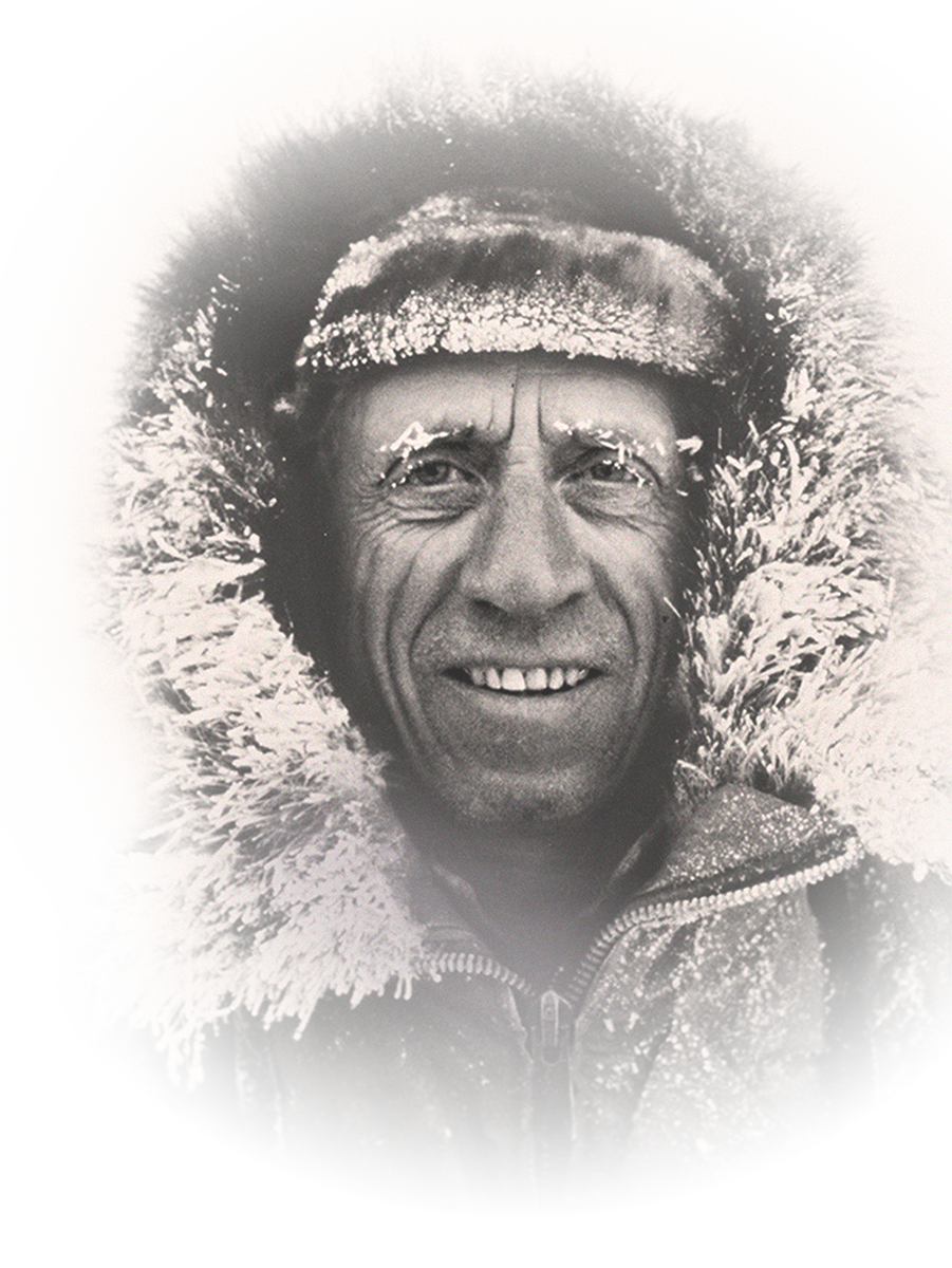 Picture of fred bear in a large, winter coat