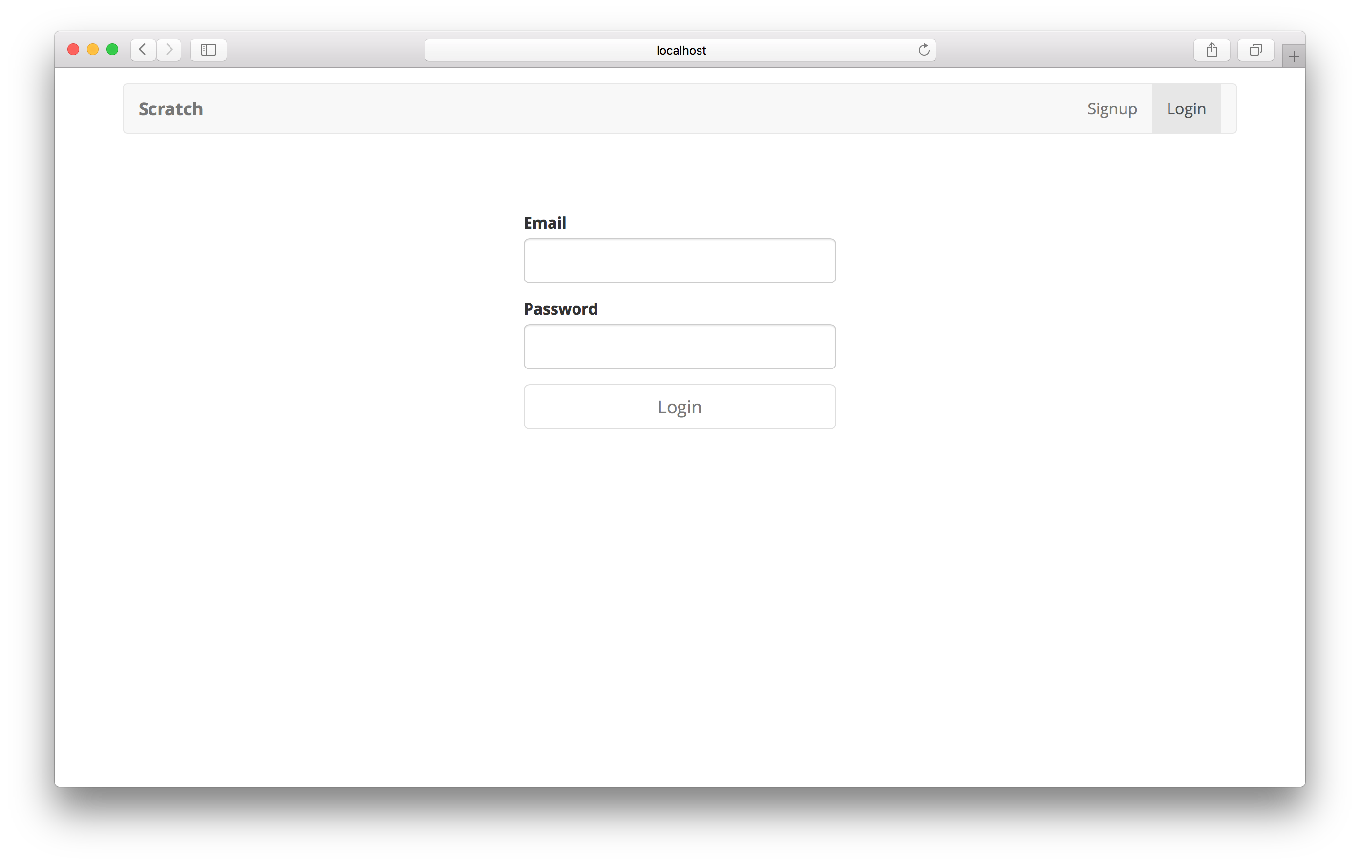 Login page added screenshot