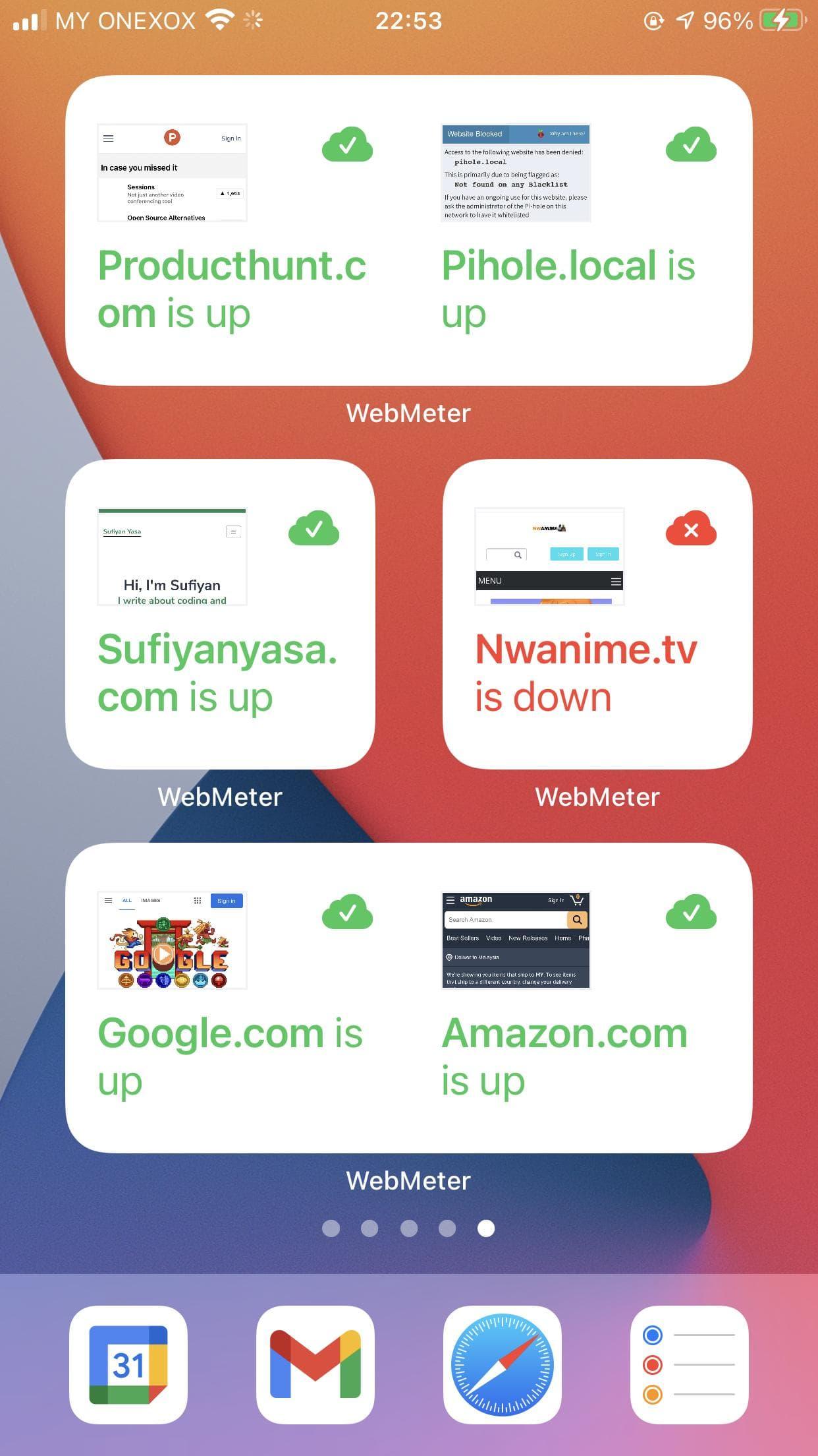 Full Screen widgets
