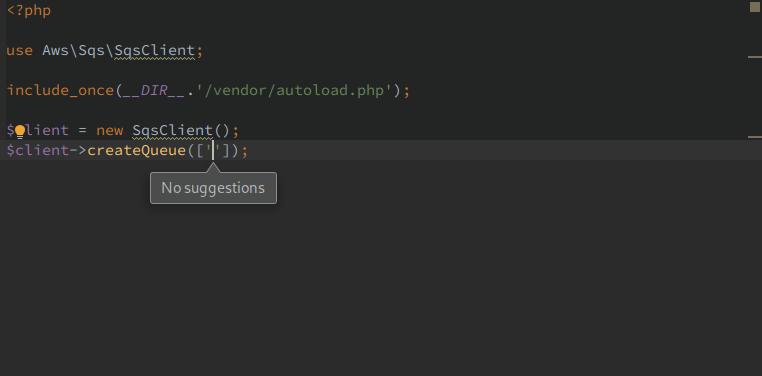 AWS PHP SDK input doc