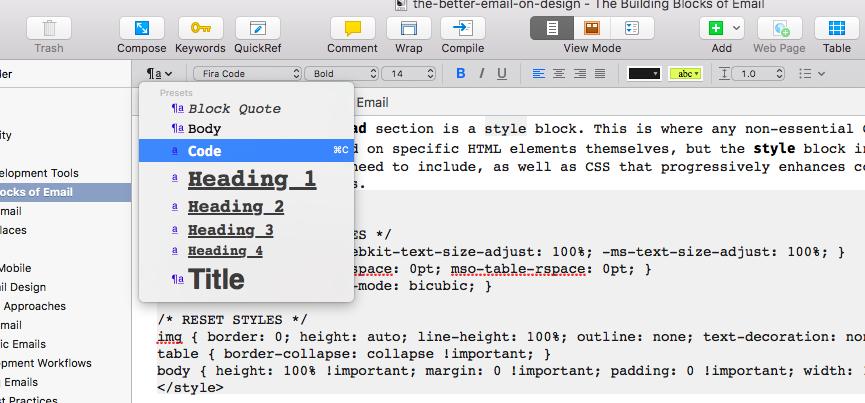 new scrivener shortcut