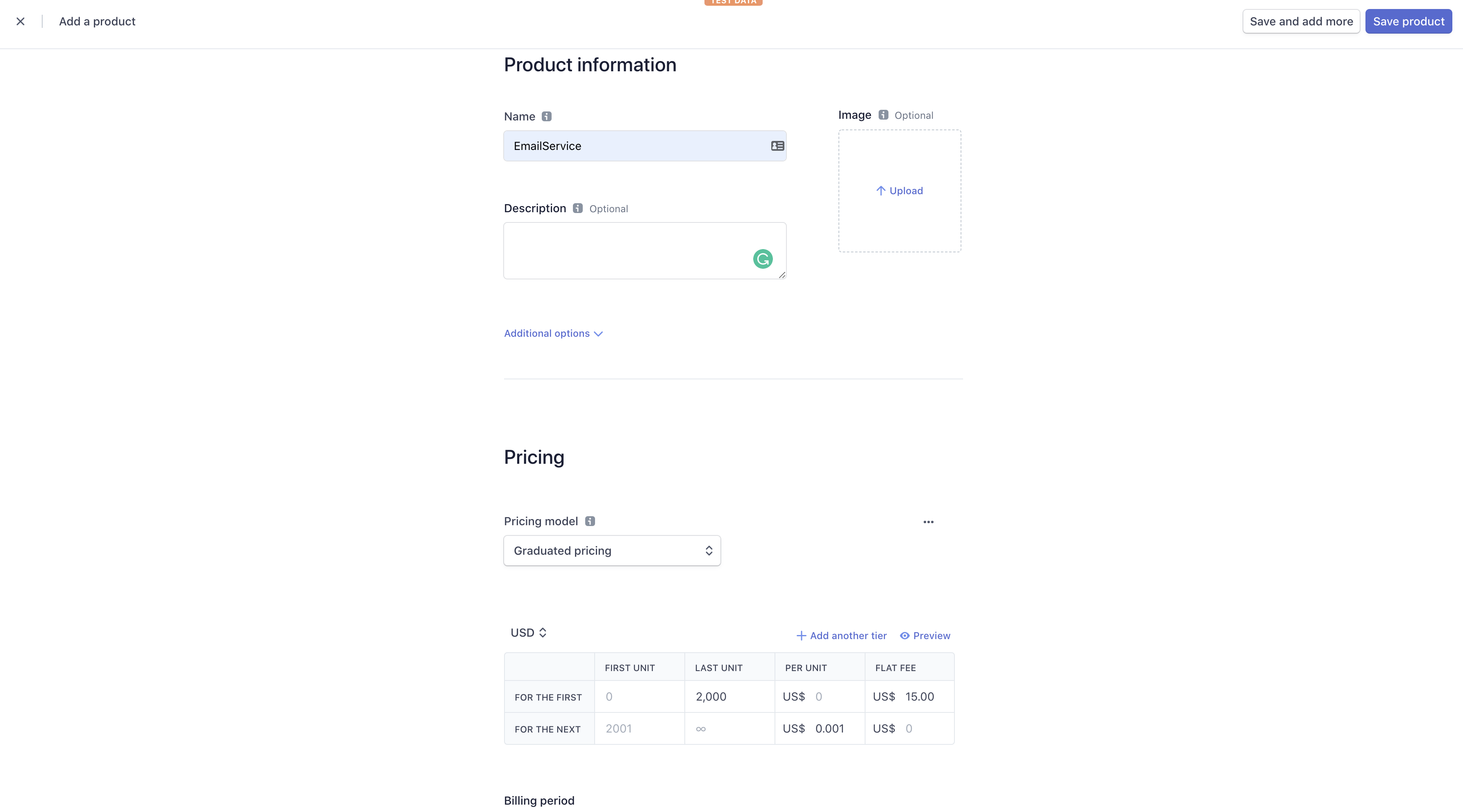 Create Email Product